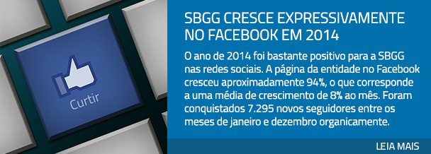 SBGG cresce expressivamente no Facebook em 2014