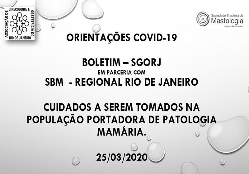 ORIENTAÇÕES COVID-19